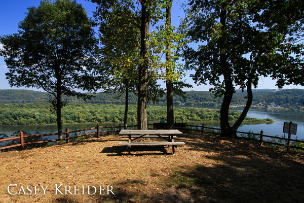 Urey Overlook on the western side of the Susquehanna River with a view of the town of Pequea in Lancaster County.