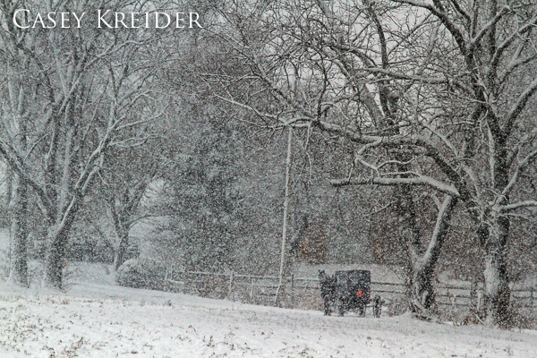 A few photos of the snowy morning commute in the Lititz area Tuesday.