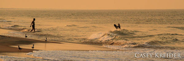 A warm beach scene from the Outer Banks