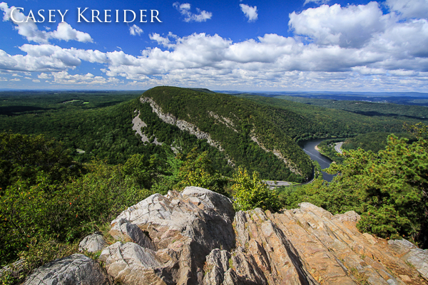 View of the Delaware Water Gap from Mount Tammany in Delaware Water Gap National Recreation Area.