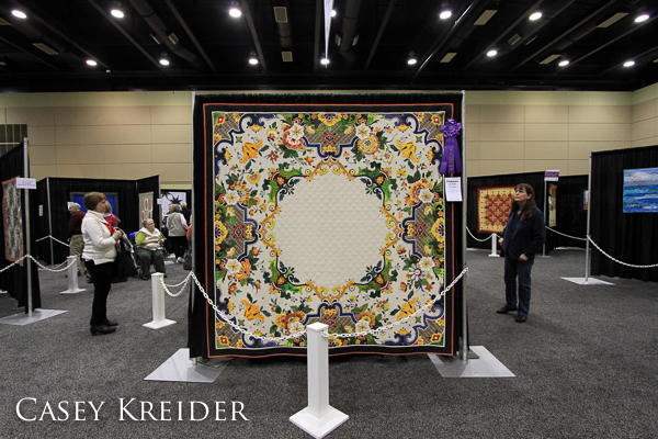 """ELaTED,"" a quilt by Ted Storm of 's-Gravenzande, Zuid-Holland, Netherlands, won the prize for Best in Show at the 2014 American Quilter's Society QuiltWeek event at the Lancaster County Convention Center."