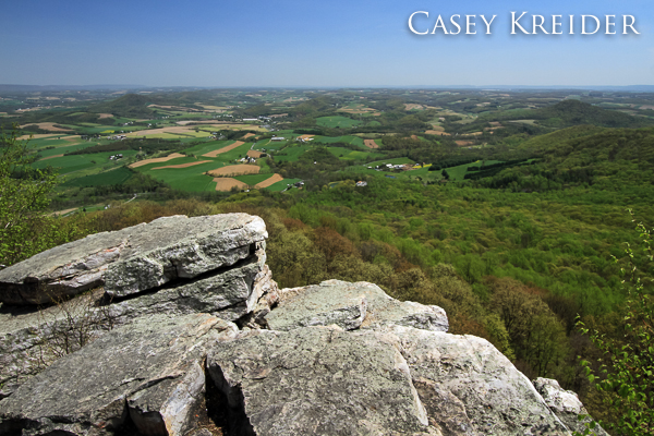 A clear, spring morning at The Pinnacle on the Appalachian Trail in Berks County.