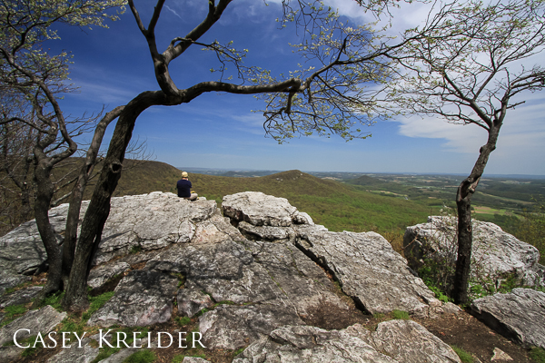 Pulpit Rock on the Appalachian Trail in Berks County.