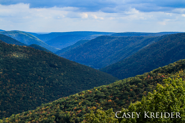 View of Pine Creek Gorge (PA Grand Canyon) from the Black Forest Trail in Tiadaghton State Forest, Lycoming County.
