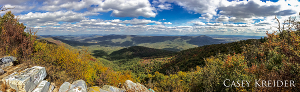 Panorama from Tower Road, Buchanan State Forest