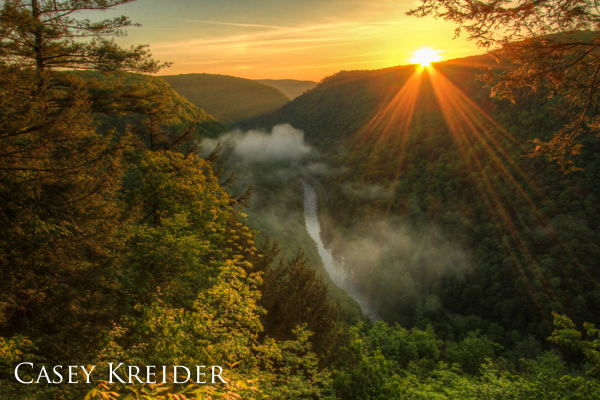 Sunrise over the Pine Creek Gorge, or PA Grand Canyon, from Colton Point State Park