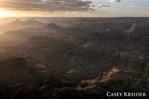Sunset from the south rim of Grand Canyon National Park